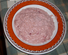 Risotto alle fragole (vegetariano)